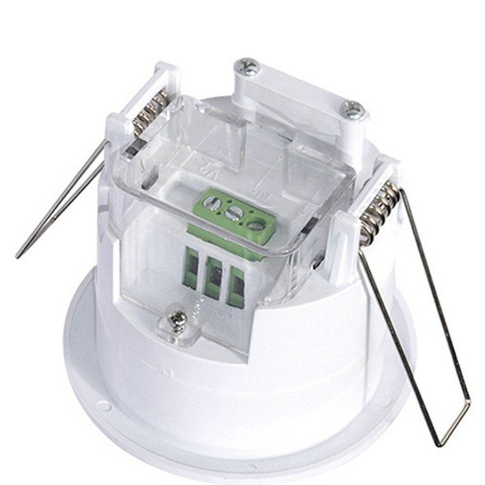 Interruptor de luz de detección de movimiento, 360 grados empotrable, 1200 W: Amazon.es: Bricolaje y herramientas