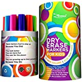 Dry Erase Markers for Kids Whiteboard Erasable Marker Pens Set Fine Tip Point - Eco Pen Pack with 13 Unique, Bright Colors -You Get FREE Gift eBook- F