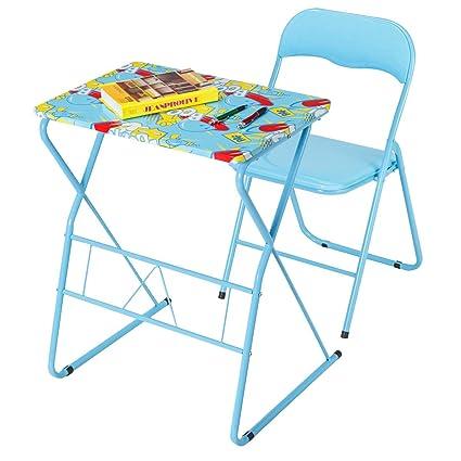 Amazon Com Kchex Kids Folding Table Chair Set Study Writing Desk
