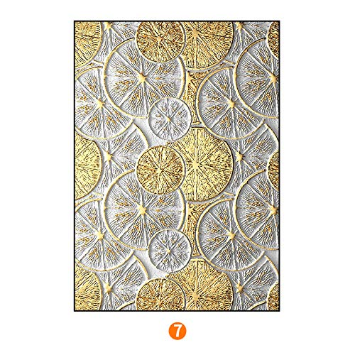 PLLP Abstract gold foil series modern decorative painting, Nordic office living room painting, bedroom triptych, to map custom,F,6080cm