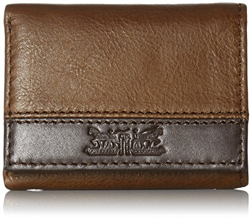 Levi's Men's Trifold Wallet - Sleek and Slim Includes ID Window and Credit Card Holder,Trifold