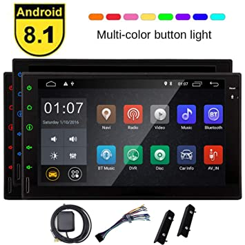 """Android8.1 7/"""" Double 2DIN In dash Car stereo Radio Player GPS Navigation WiFi"""