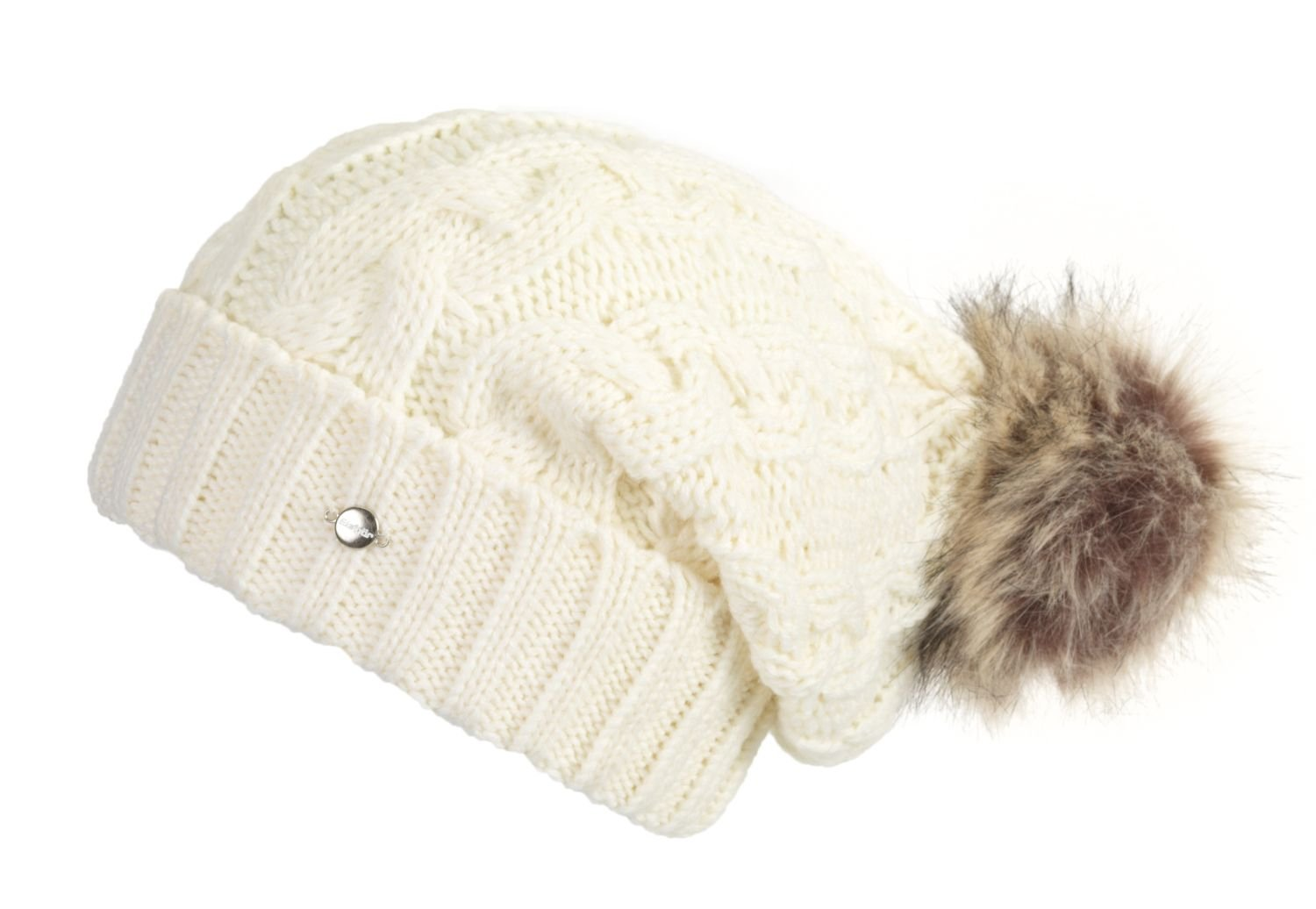 37f12f634d3 Eisbär Lesli Women s Bobble Hat Charlize Lux Natural Grey  Amazon.co.uk   Sports   Outdoors