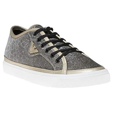 930f01ce26b18 Emporio Armani Glitter Court Trainers Metallic: Amazon.co.uk: Shoes ...