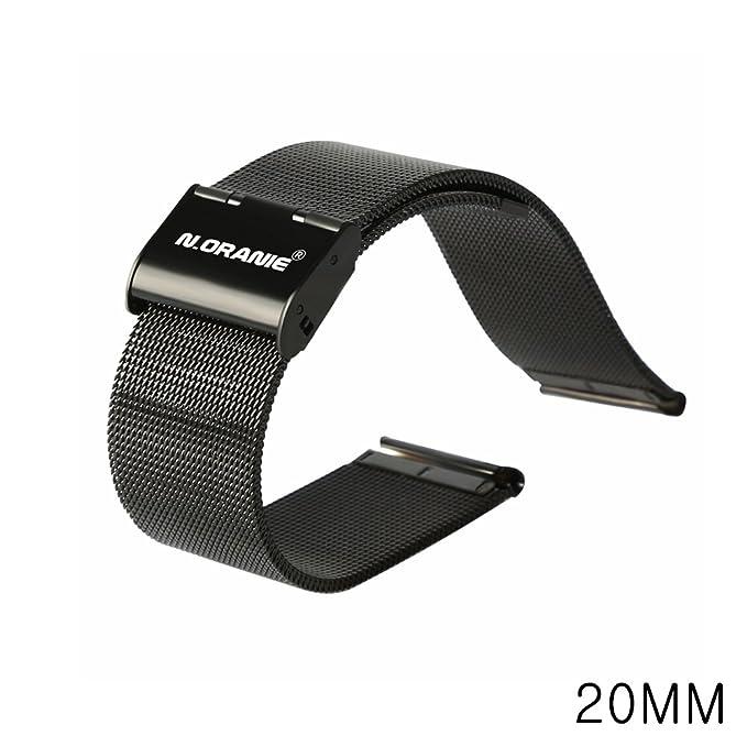 N. Oranie Moto 360 2 nd reloj banda correa, pulsera de acero ...