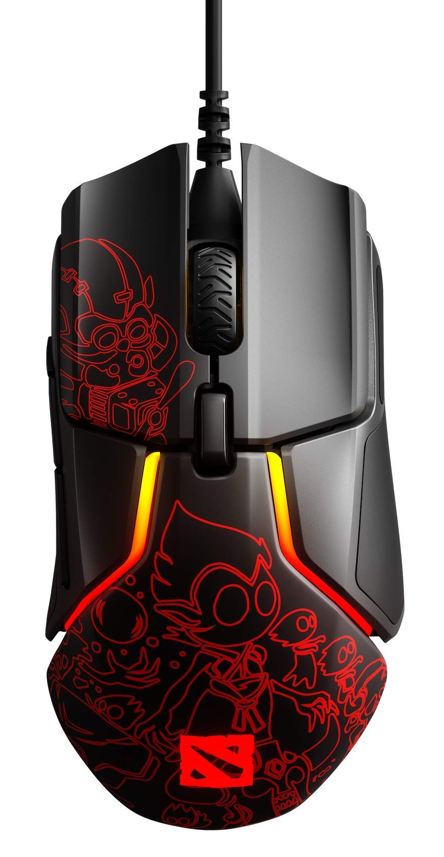 SteelSeries Rival 600 Gaming Mouse - 12, 000 CPI TrueMove3+ Dual Optical Sensor - 0.5 Lift-Off Distance - Weight System - Dota 2 Design PC by SteelSeries