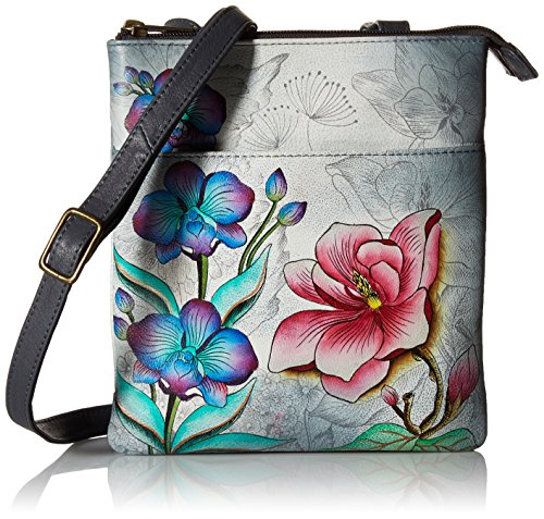 Anuschka Handpainted Rfid Blocking Triple Compartment Floral Fantasy Floral Fantasy