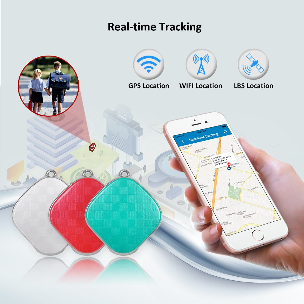 Mini GPS Tracker Kids Child GPS Locator Real Time Tracking Device No Monthly Fee MT9 Free Web APP Tracking (White) by Micodus (Image #5)