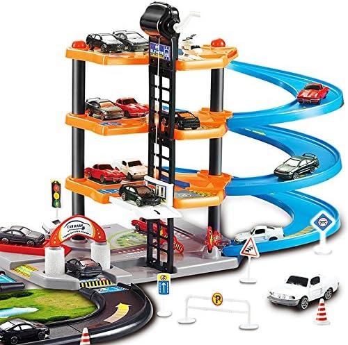 DIY玩具 駐車場玩具セットレ- 多目的駐車場建物 創造力 実践力鍛え 子供向け 知育おもちゃ 誕生日 クリスマスプレゼント