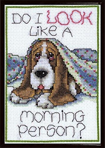 Cross Stitch Morning - Design Works Morning Dog Counted Cross Stitch Kit by Design Works