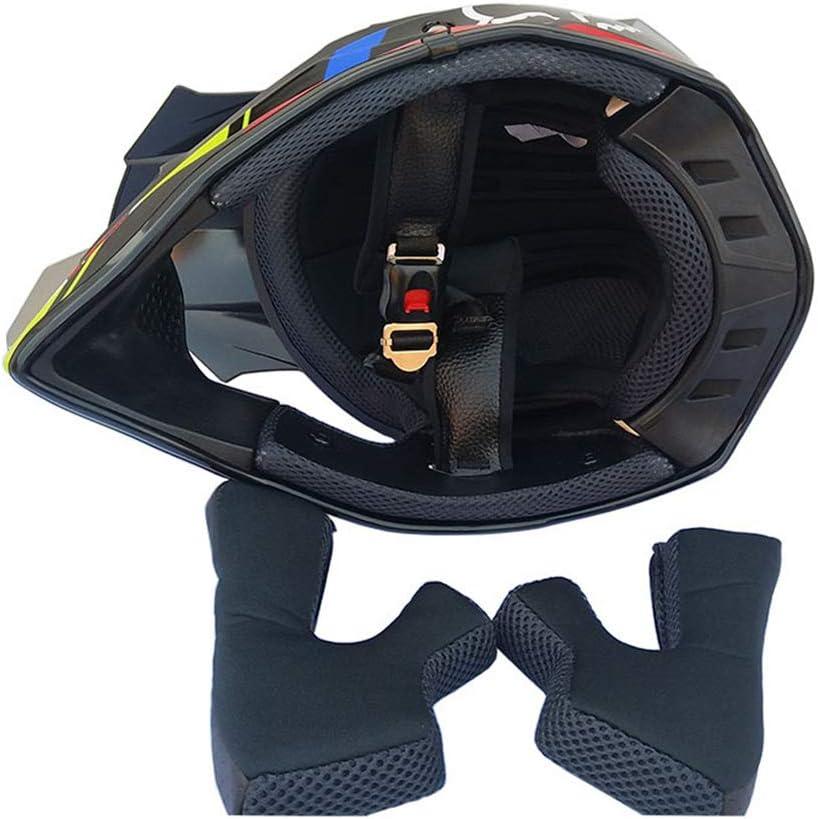 Unisex Casco Cross Set off-Road Casco Integrale MTB Downhill Enduro Motard Quad Scooter per Donna Uomo Adulto Nero e Giallo Casco Motocross//Occhiali//Mascherina//Guanti Lupo