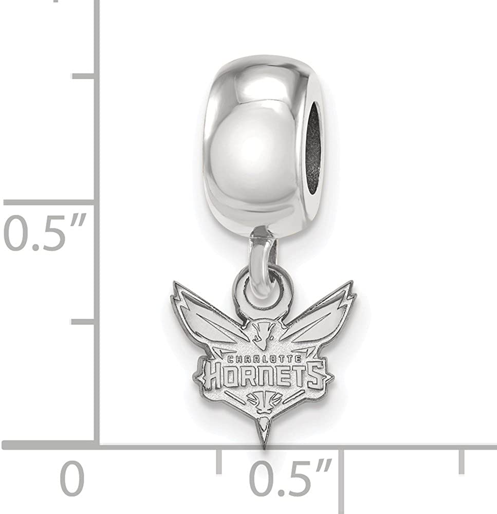 LogoArt NBA Charlotte Hornets Sterling Silver XS Dangle Bead
