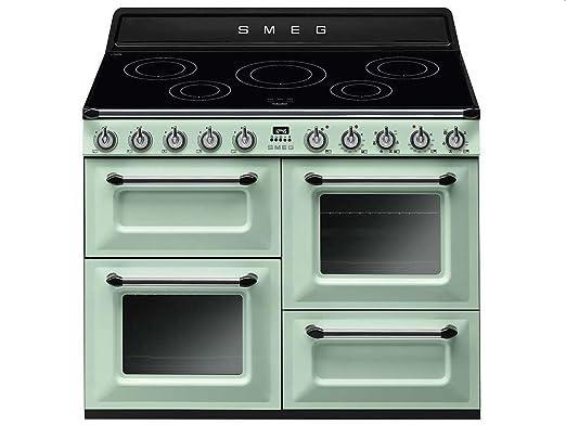 Cocina Smeg TR4110IPG Verde Horno Eléctrico 5 Fuegos: Amazon.es: Hogar