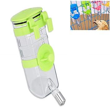 Poluka - Botella de agua automática de 350 ml para mascotas, dispensador de botellas de