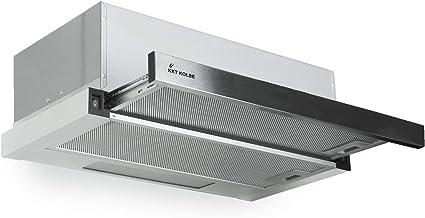 Campana telescópica empotrada (60 cm, acero inoxidable, iluminación LED, filtro de grasa incluido, aire de escape o aire circulante) TEL350 - KKT KOLBE: Amazon.es: Hogar