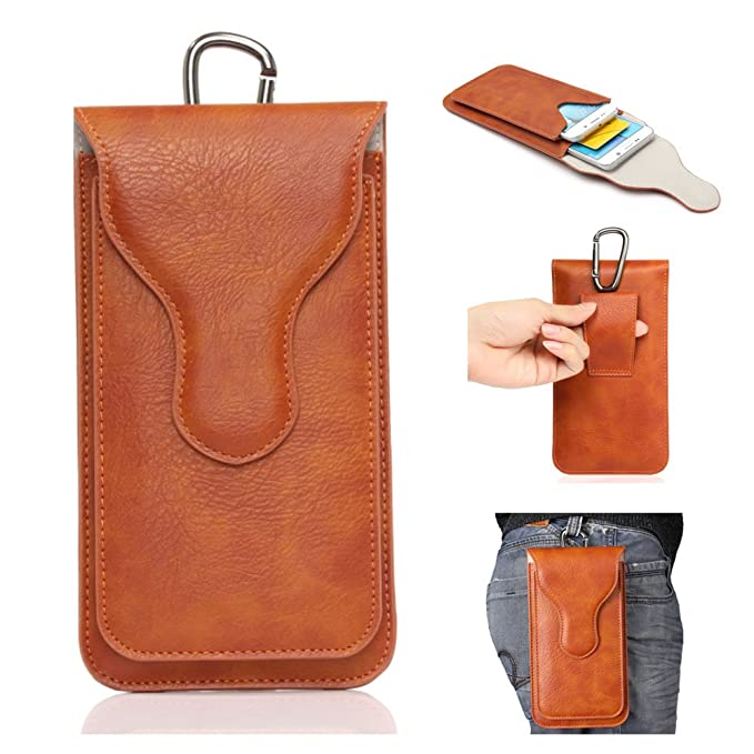 9 opinioni per YiJee Phone Bags,Double Pockets Phone Pouch Holster PU Leather Cases with
