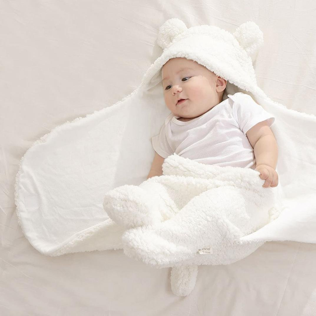 Newborn Infant Baby Faux Cashmere Receiving Blankets Wrap Sleeping Bag Transer Swaddle Blanket