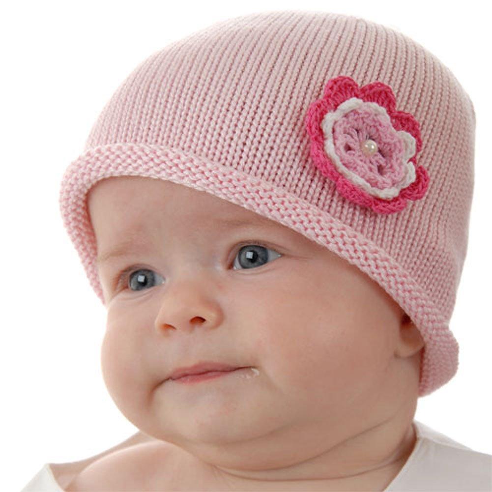 Amazon.com : Cute Baby Beanie Hat 0-6m Soft Luxurious Cotton Knit ...