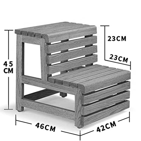 Amazon.com: Folding Stools Step Stool Solid Wood Two-Story ...