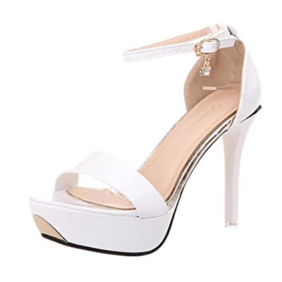 Alonea Women Sandals Open Toe High Heels Sandals Ankle Strap Summer Shoes