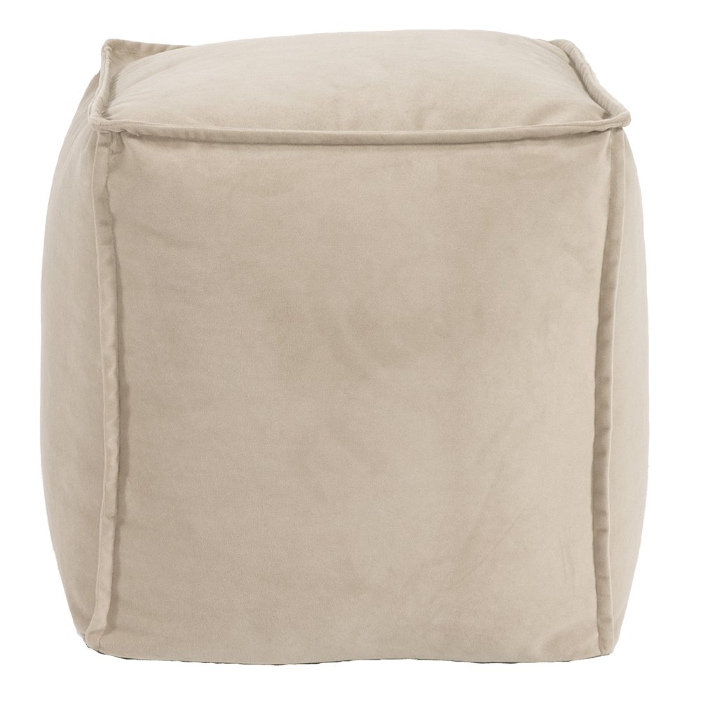 Howard Elliott Pouf Ottoman 873-224 Square Bella, Sand, Off-White by Howard Elliott Collection (Image #1)