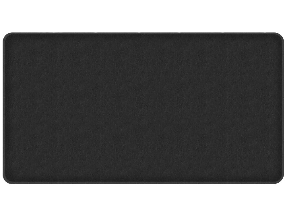 """GelPro Classic Anti-Fatigue Kitchen Comfort Chef Floor Mat, 20x36"""", Quill Black Stain Resistant Surface with 1/2"""" Gel Core for Health and Wellness"""
