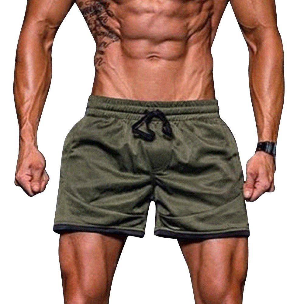 Mens Sport Fitness Underwear Jogging Briefs Men Elastic Stretchy Bodybuilding Beachwear Underpants Sweatpants Panties