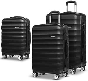 Wanderlite Luggage Sets Lightweight Suitcases Travel Carry On Bag Hard Case-Black