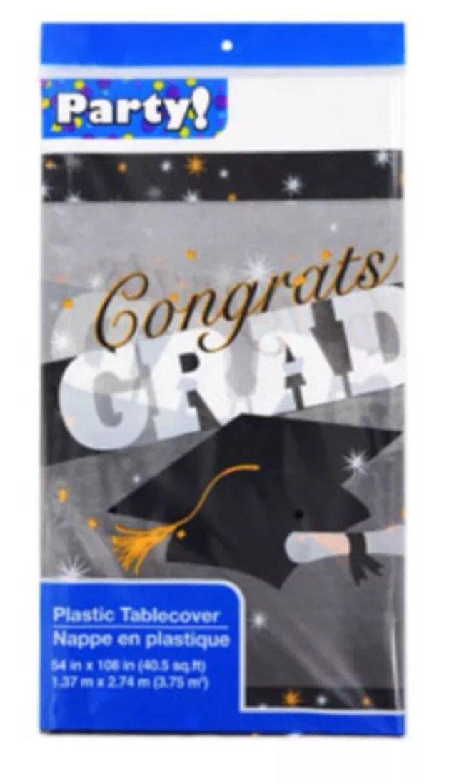 Congrats Grad Tablecover 140cm X 270cm