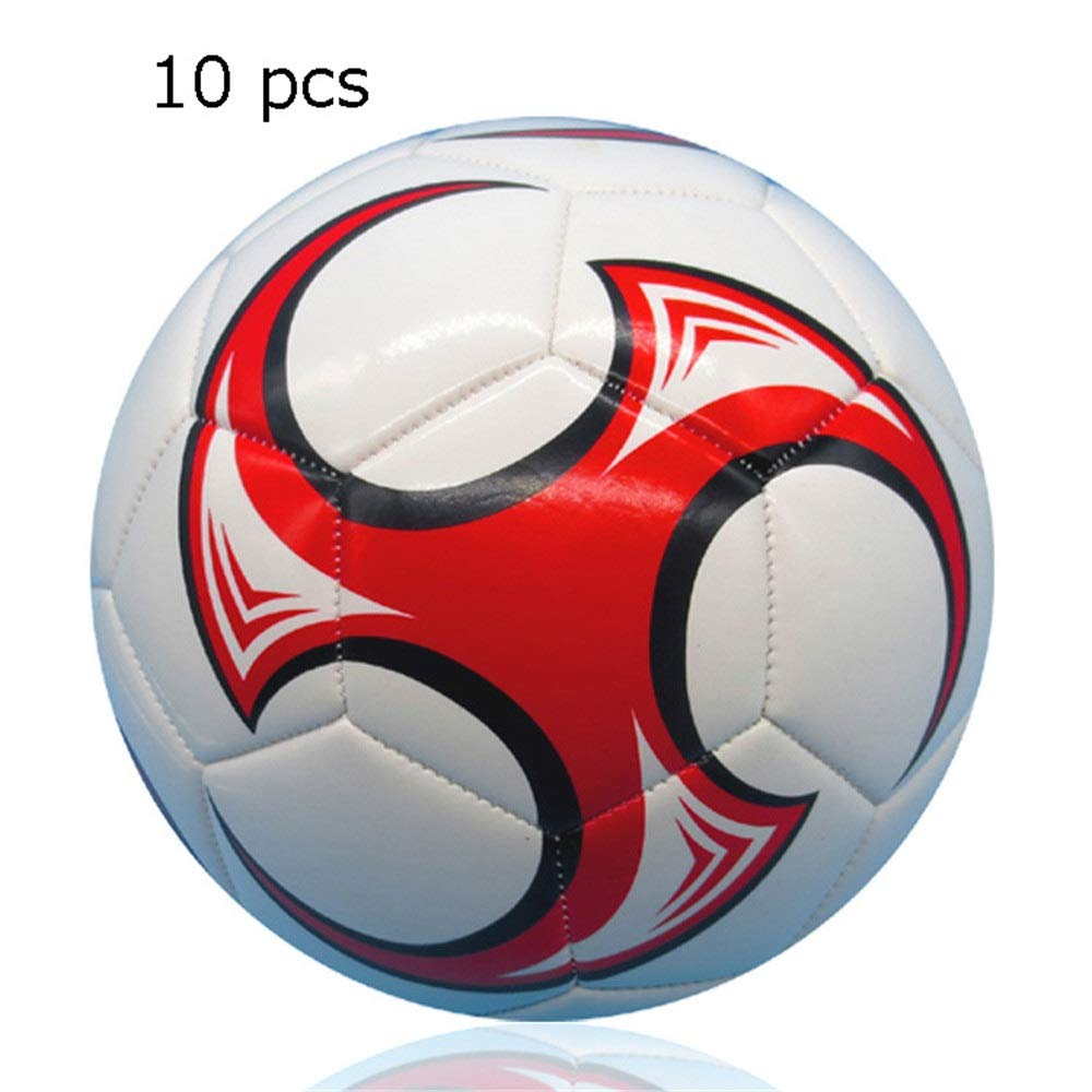 Jajx-os Kids Toys Soccer 10 Pcs Girl's and Boy's PVC Machine Stitching Soft Football Children's Official Size 5 Training Football Soccer Ball for Kids Outdoor Sport (Color : C2, Size : 5) by Jajx-os