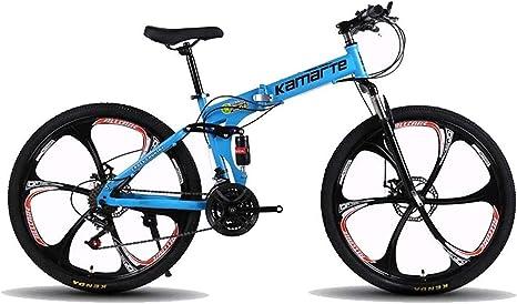 QZ Bicicleta Plegable, Bicicletas de montaña, Hard Tail Bicicleta 26 Pulgadas de Velocidad de Bicicletas, MTB Doble suspensión, Variable Estudiante de educación Superior de la Bici Velocidad: Amazon.es: Deportes y aire libre