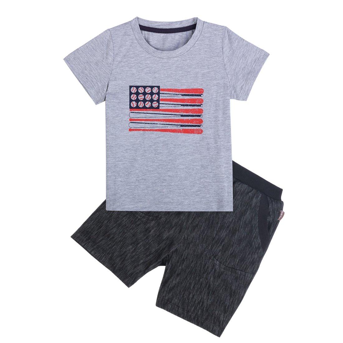 Little Boys Clothing Sets 2pcs Cotton T-Shirt and Jeans Shorts Boys Summer Kids Clothes Sets Outfits Suit
