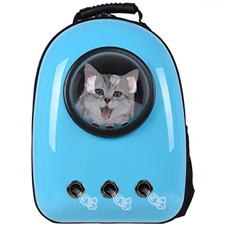 Giantex Astronaut Pet Cat Dog Puppy Carrier Travel Bag Space Capsule  Backpack Breathable (Light Blue 365df877efbb1