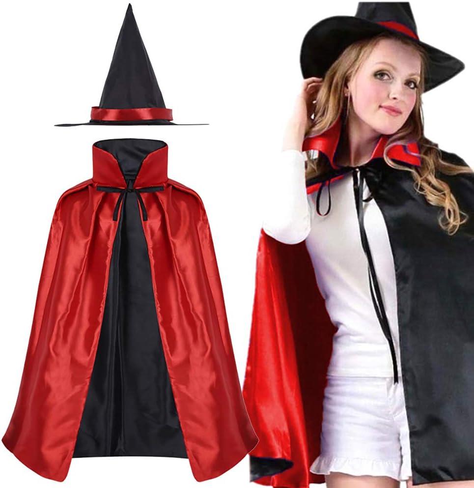 Asien 1 Piezas Capa de Cosplay de Halloween Unisex Bruja de Doble ...