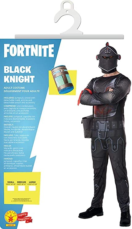 Fortnite - Disfraz Black Knight para adulto, talla M (Rubies ...
