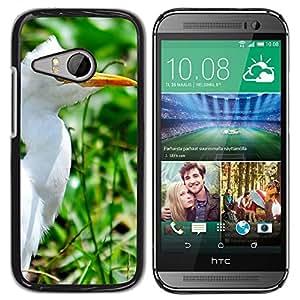 Super Stella Slim PC Hard Case Cover Skin Armor Shell Protection // M00147067 Crane White Heron Beak Yellow Beak // HTC One Mini 2 / M8 MINI / (Not Fits M8)