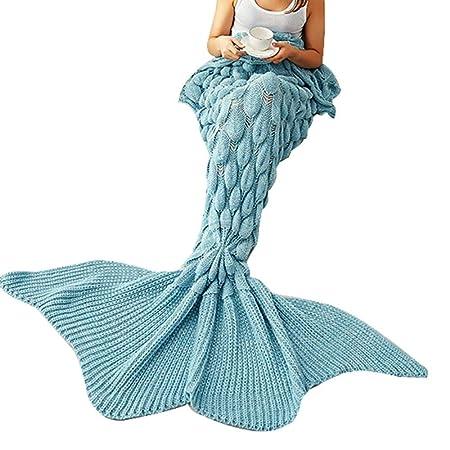 Amazonde Meerjungfrau Decke Mermaid Decke Häkeln Handbuch Weich