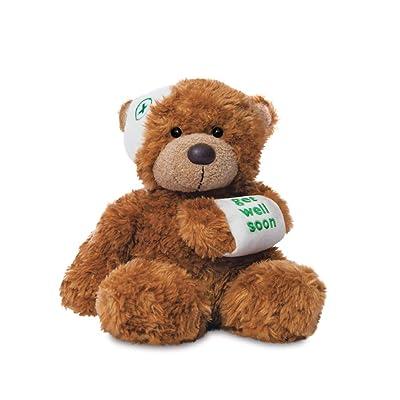 Aurora, 60384, Bonnie Get Well Soon Bear, 9In, Soft Toy, Dark Brown: Toys & Games