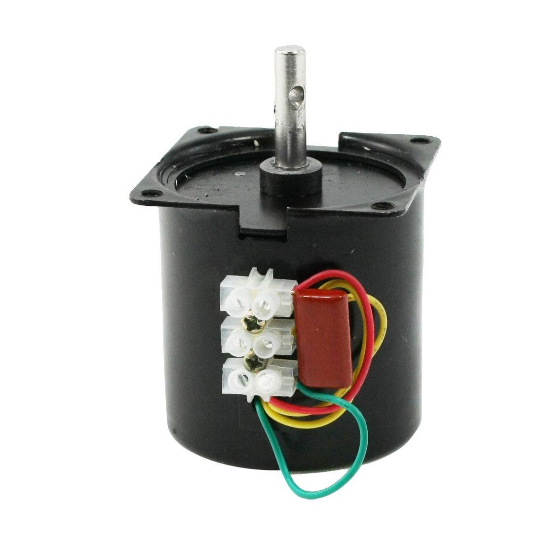 sourcingmap AC 220V 2.5RPM 7mm Shaft Diameter Machine Synchronous Gear Motor a13052700ux0272