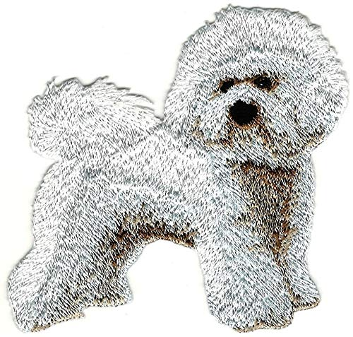 - 3.5'' Standing Full Body Bichon Frise Breed Embroidery Patch
