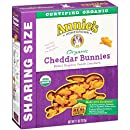 Annie's Organic Cheddar Bunnies, Baked Snack Crackers, 11 oz Box (Pack of 4)