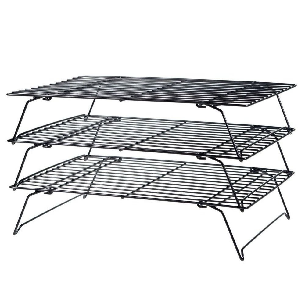 Jazooli 3 Tier Stackable Cake Stand Baking Cooling Rack Three Level Cooking Bake Tray