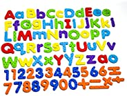 MAGTiMES Magnetic Letters and Numbers for Educating Kids in Fun -Educational Alphabet Refrigerator Magnets -11