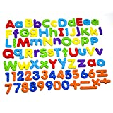 Toys : Magnetic Letters and Numbers for Educating Kids in Fun -Educational Alphabet Refrigerator Magnets -82 Pieces