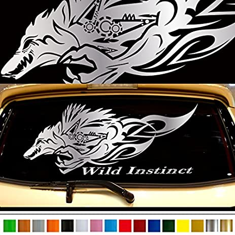 Wolf car rear sticker 30 car custom stickers decals 【8 colors to choose from】
