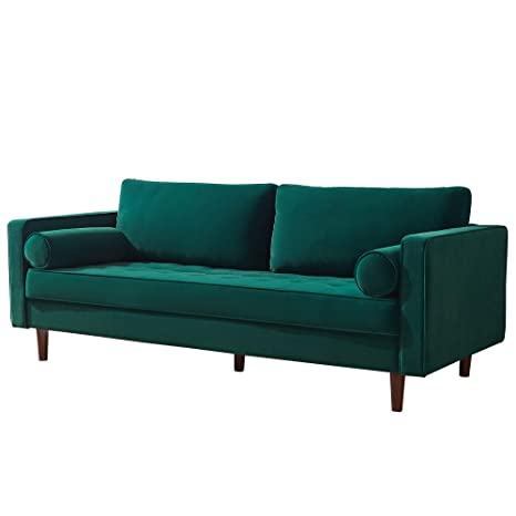 Fabulous Amazon Com 79 W Mid Century Modern Velvet Fabric Bench Gmtry Best Dining Table And Chair Ideas Images Gmtryco