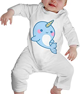Unisex Baby Cute Narwhals Dolphi Unicorn Long Sleeve Romper Jumpsuit Bodysuit