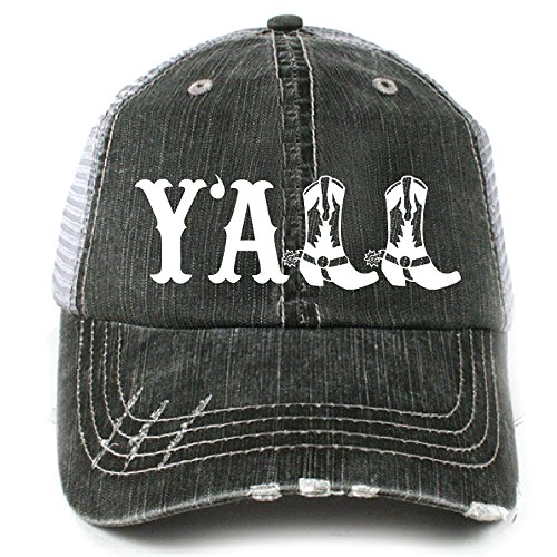 Y'all Southern Country Women's Trucker Hat Cap by -
