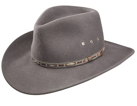 00ea9133473c5 Amazon.com  Stetson Elk Horn Wool Cowboy Hat  Clothing