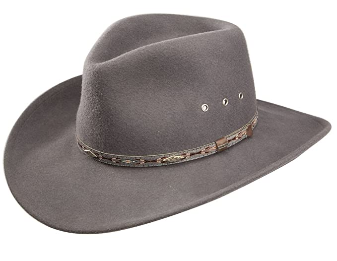 456783f115c Amazon.com  Stetson Elk Horn Wool Cowboy Hat  Clothing